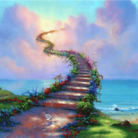 Stairway to heaven 50x40 cm