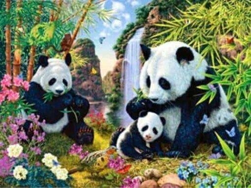 panda diamond painting