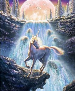 eenhoorn met waterval diamond painting seos shop
