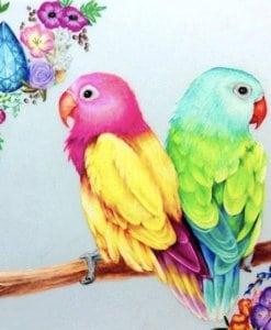 Diamond Painting - Gekleurde Papegaaien - 30x30 cm - Volledige bedekking - FULL - SEOS Shop ®