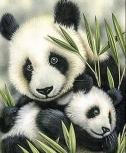 Diamond Painting - Panda's - 30x40 cm - Volledige bedekking - FULL - SEOS Shop ®