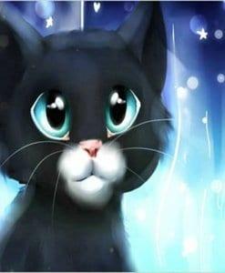 Diamond Painting Schattige kitten - 30x40 CM - Volledig - SEOS Shop ®
