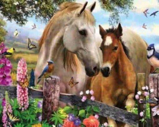 Diamond painting Prachtige Paarden 30x25 cm - Volledig - SEOS Shop ®
