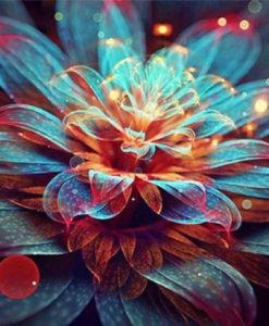 Diamond Painting Kleurrijke bloem